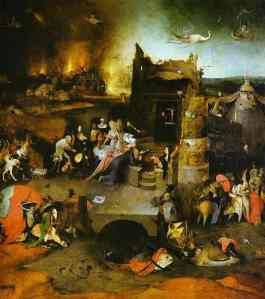 A contemporary painting by Hieronymus Bosch (1453 - 1516)